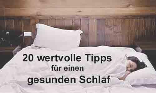 Schlafen 20 Tipps