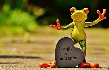 lach und sei glücklich