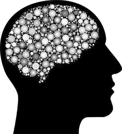 Gehirn Gedanken grau