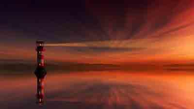 Spiegelung Leuchtturm