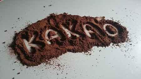 Kakao für dunkle Schokolade